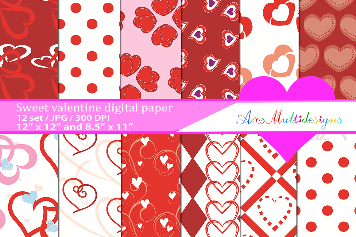 Valentine S Day Patterns Graphic By Arcs Multidesigns