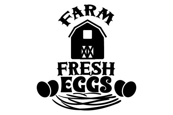 Farm fresh eggs SVG Cut file by Creative Fabrica Crafts