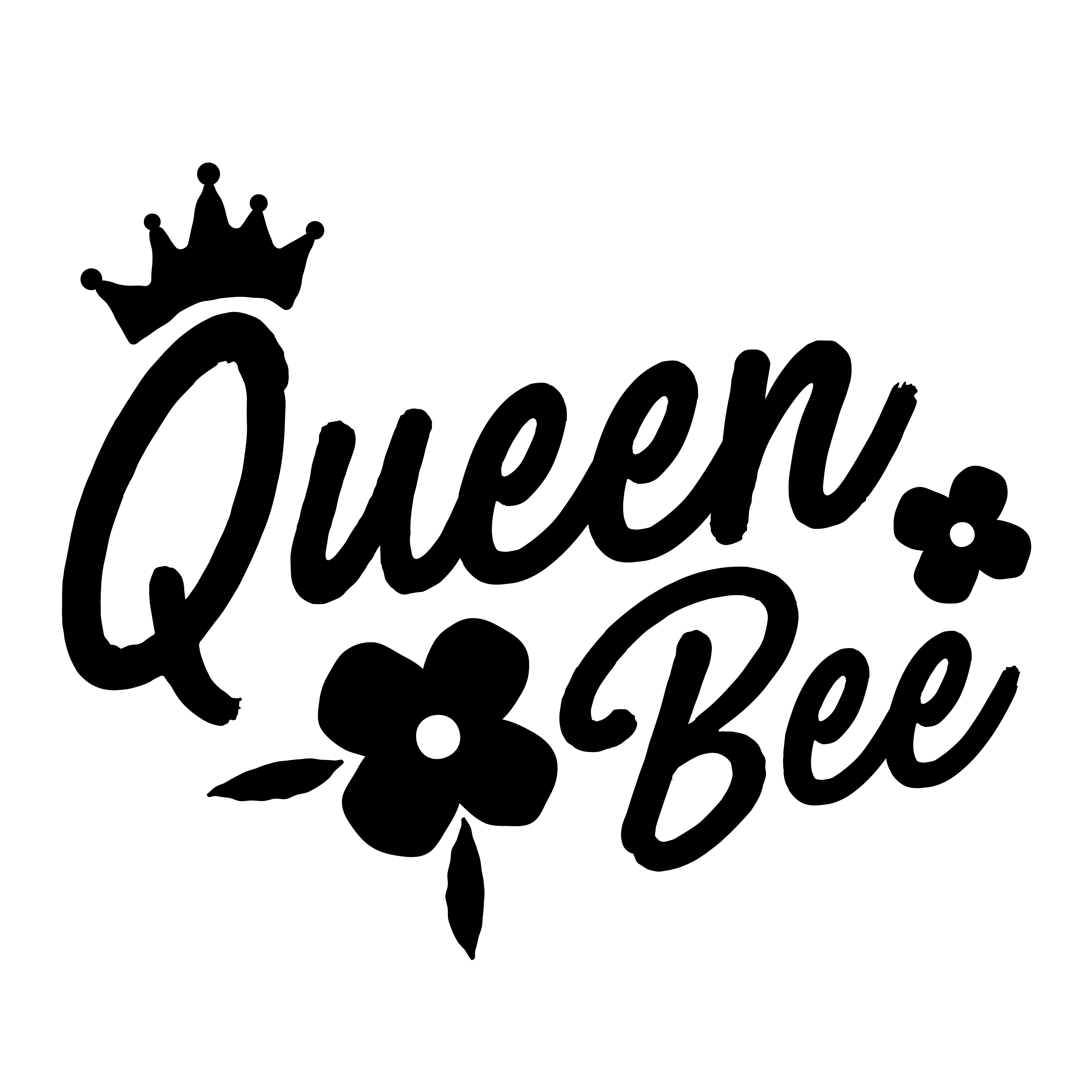 Queen Bee Design Graphic By Davidrockdesign