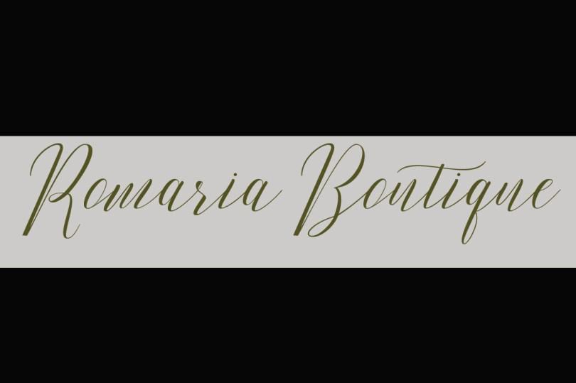 Romarya Font Design