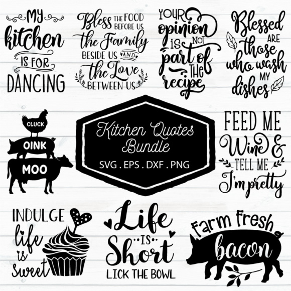 Kitchen Quotes Bundle Graphic By Craft Pixel Perfect Creative Fabrica