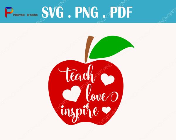 Teacher Svg File Teaching Teach Love