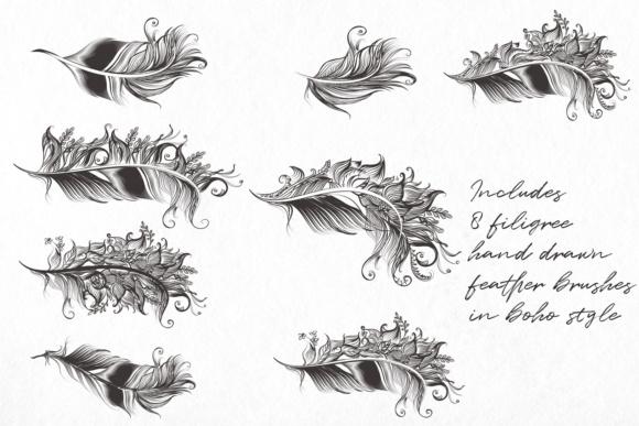Bohemian magic. Illustrator brushes Graphic by
