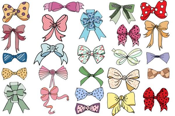 bows clip art clipart doodle