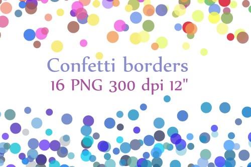 small resolution of confetti borders clipart confetti clipart digital confetti confetti overlay graphic by chilipapers creative fabrica