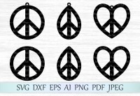 Earrings peace sign SVG Graphic by MagicArtLab - Creative ...