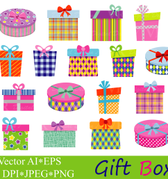 gift boxes clipart birthday party presents clip art gifts vector graphics present illustrations graphic by vr digital design creative fabrica [ 1502 x 1000 Pixel ]