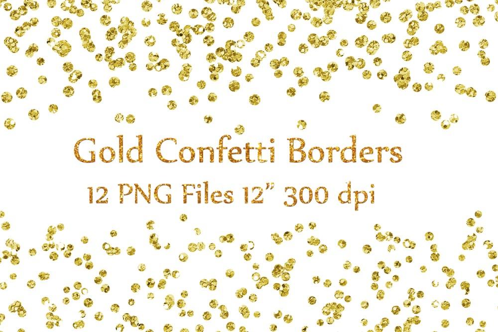 medium resolution of gold confetti borders clipart glitter confetti clipart glitter confetti clip art graphic by chilipapers creative fabrica