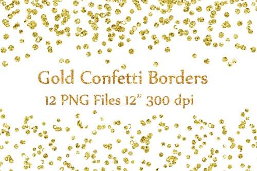 small resolution of gold confetti borders clipart glitter confetti clipart glitter confetti clip art graphic by chilipapers creative fabrica