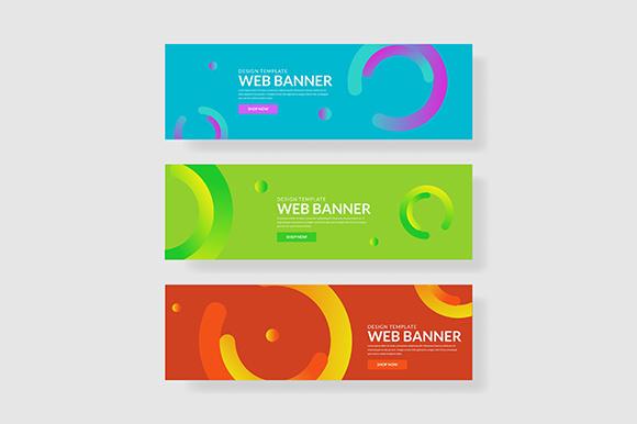 3 set colorful banner