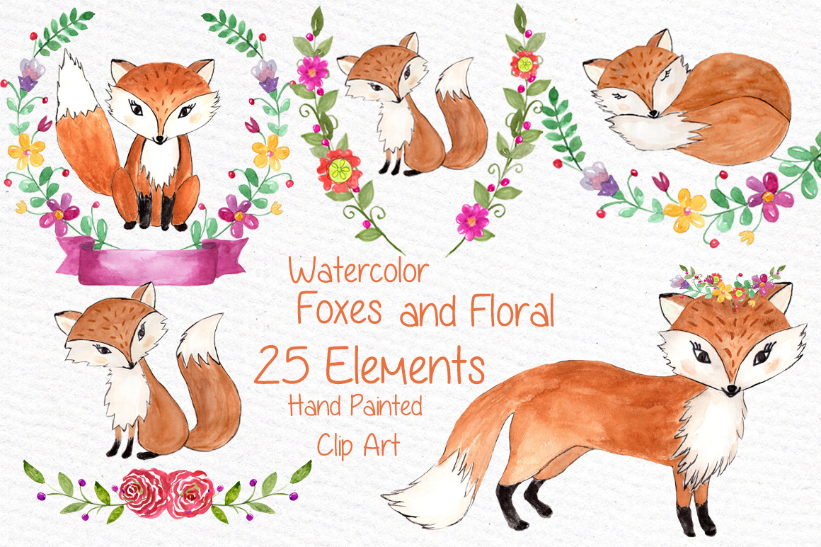 Cute Owl Wallpaper Border Watercolor Fox Clipart Graphic By Vivastarkids Creative
