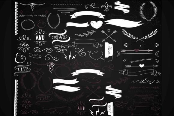 chalkboard clip art laurels
