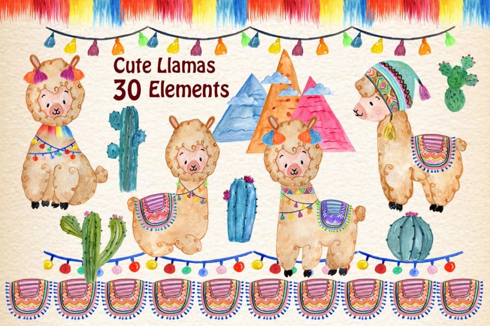 medium resolution of llama clipart