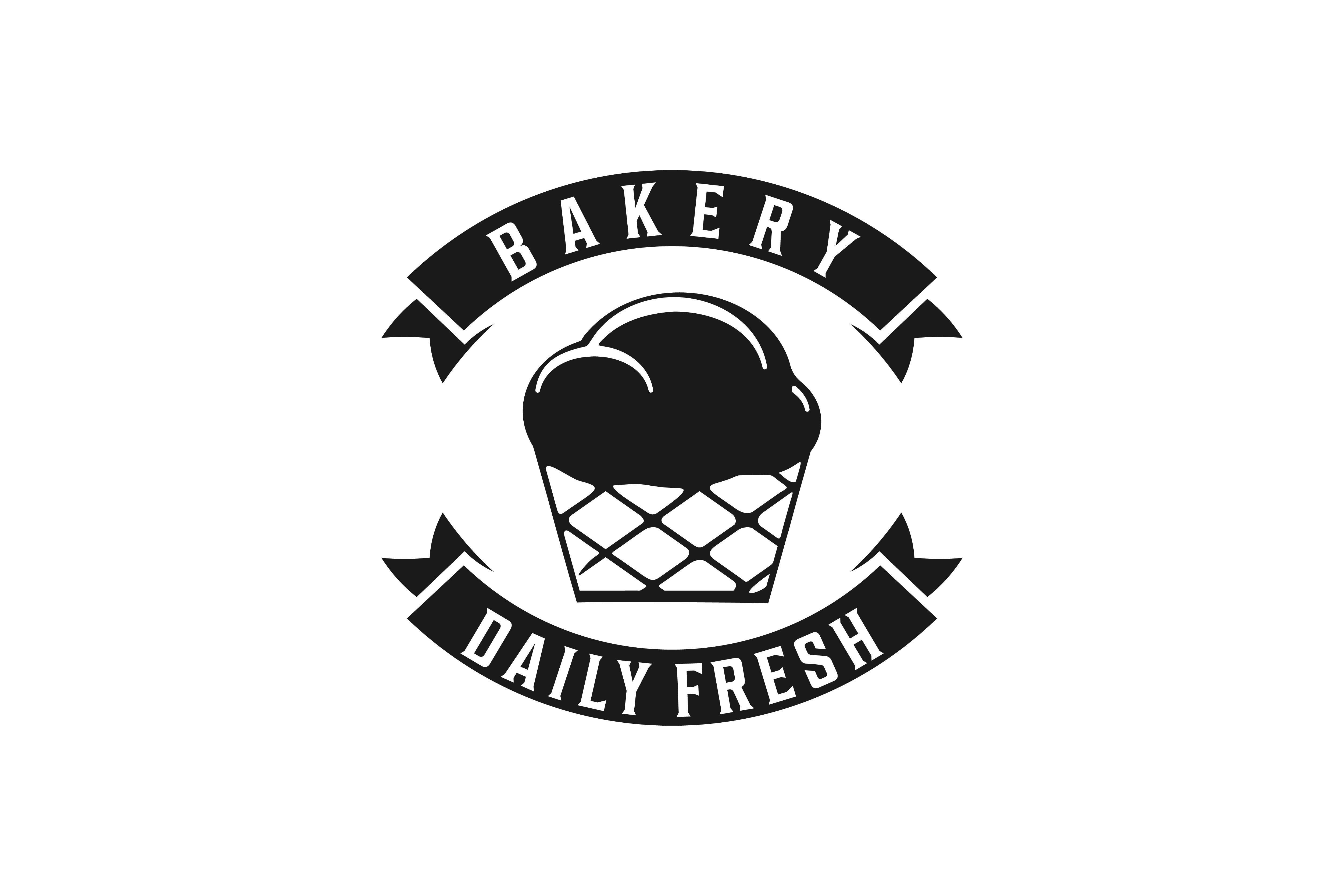 Cupcake Vintage Bakery Logo