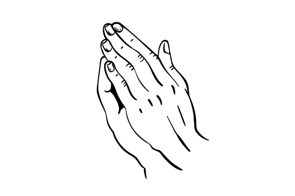 Praying hands SVG Cut file by Creative Fabrica Crafts