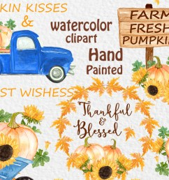 pumpkin truck clipart thanksgiving clipart graphic by vivastarkids creative fabrica [ 1162 x 775 Pixel ]