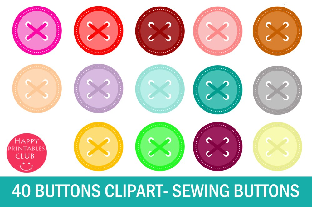 medium resolution of 40 button clipart sewing button clipart graphic by happy printables club creative fabrica