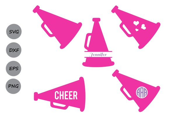 Cheer Megaphone Svg Cut Files Graphic Cosmosfineart