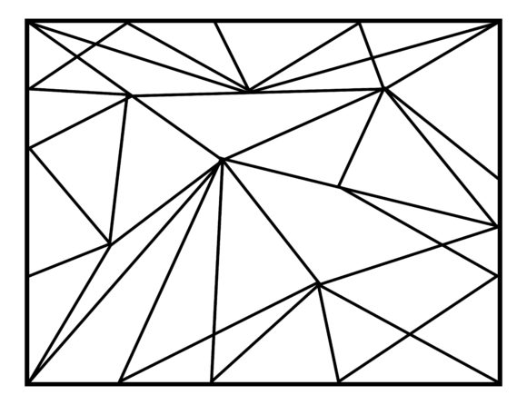 Abstract Geometric backgrounds In Lines, Polygonal Vector