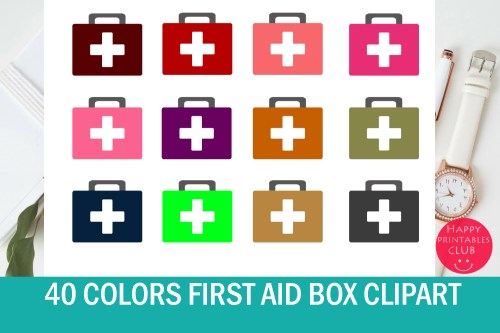 small resolution of 40 colors doctor first aid box clipart graphic by happy printables club creative fabrica