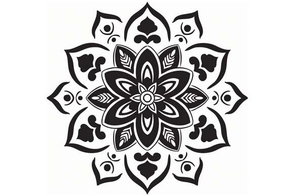 Mandala Vector Art Pattern Graphic by Red Sugar Comics