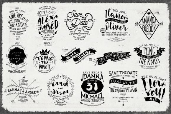 Rustic Wedding Badges & Sticker Graphic by Klapaucius Co