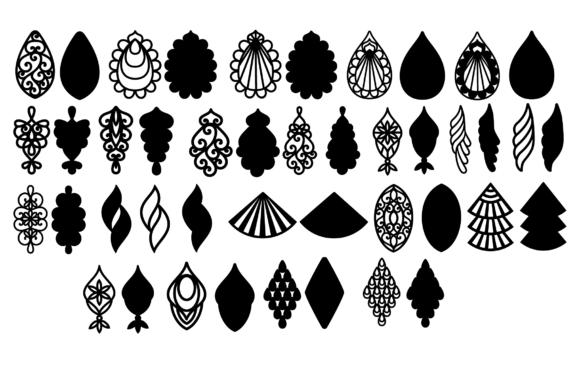 Earrings Svg, Teardrop Earrings, Earrings Template Graphic