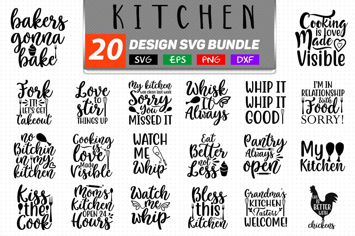 20 Kitchen SVG Bundle Graphic by Handmade studio