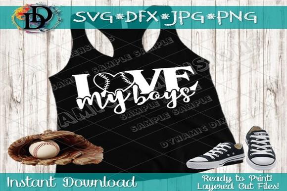 Download Baseball Svg, Baseball Mom, Love My Boys Graphic by ...