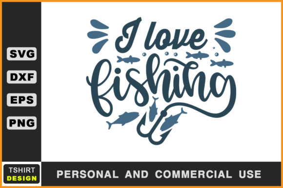Download I Love Fishing Fishing T Shirt Svg (Graphic) by Handmade ...