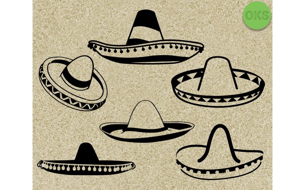 medium resolution of sombrero svg vector vecto clipart graphic by crafteroks creative fabrica