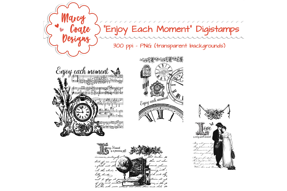 vintage romance digital stamps