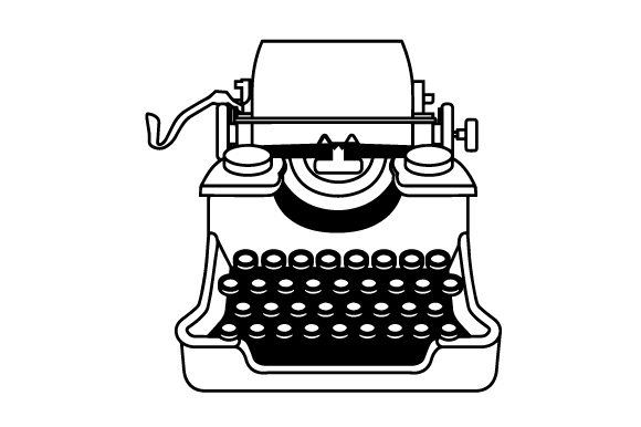 Vintage Typewriter in Color SVG Cut file by Creative