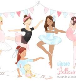 ballerinas ballet dancing girl clipart graphic by kabankova creative fabrica [ 2100 x 1398 Pixel ]