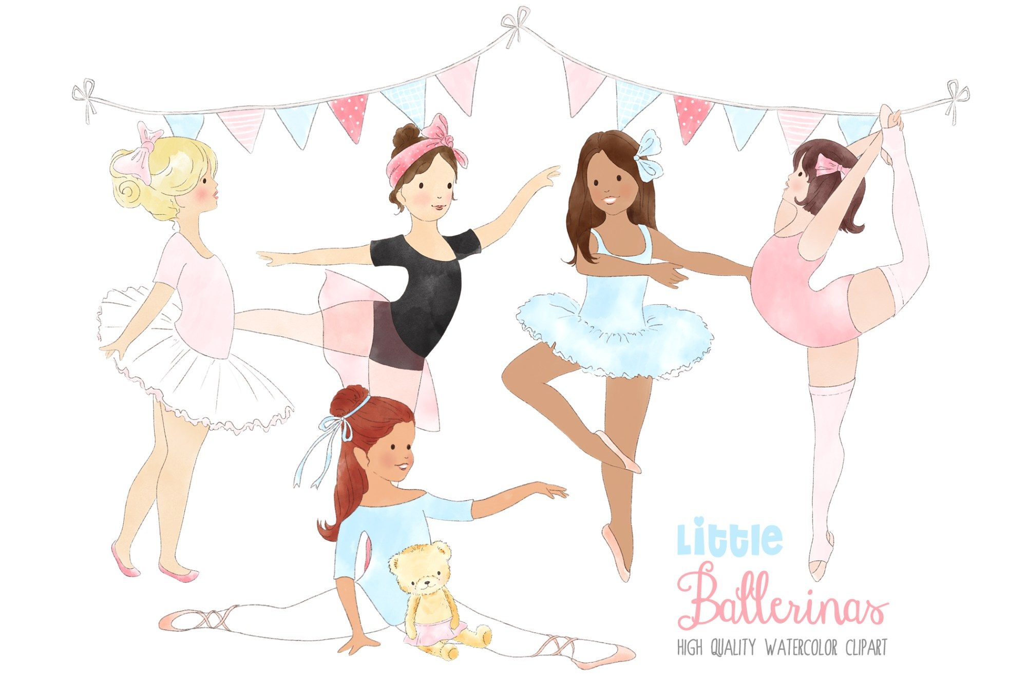 hight resolution of ballerinas ballet dancing girl clipart graphic by kabankova creative fabrica