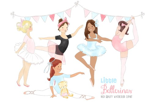 small resolution of ballerinas ballet dancing girl clipart graphic by kabankova creative fabrica