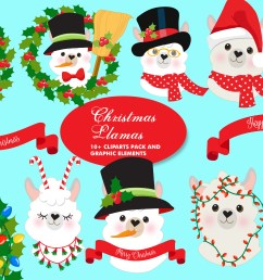 christmas llama clipart amb 2101 graphic by ambillustrations creative fabrica [ 4833 x 3217 Pixel ]