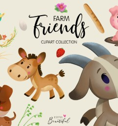 farm friends clipart collection 01 graphic by usefulbeautiful creative fabrica [ 1200 x 800 Pixel ]