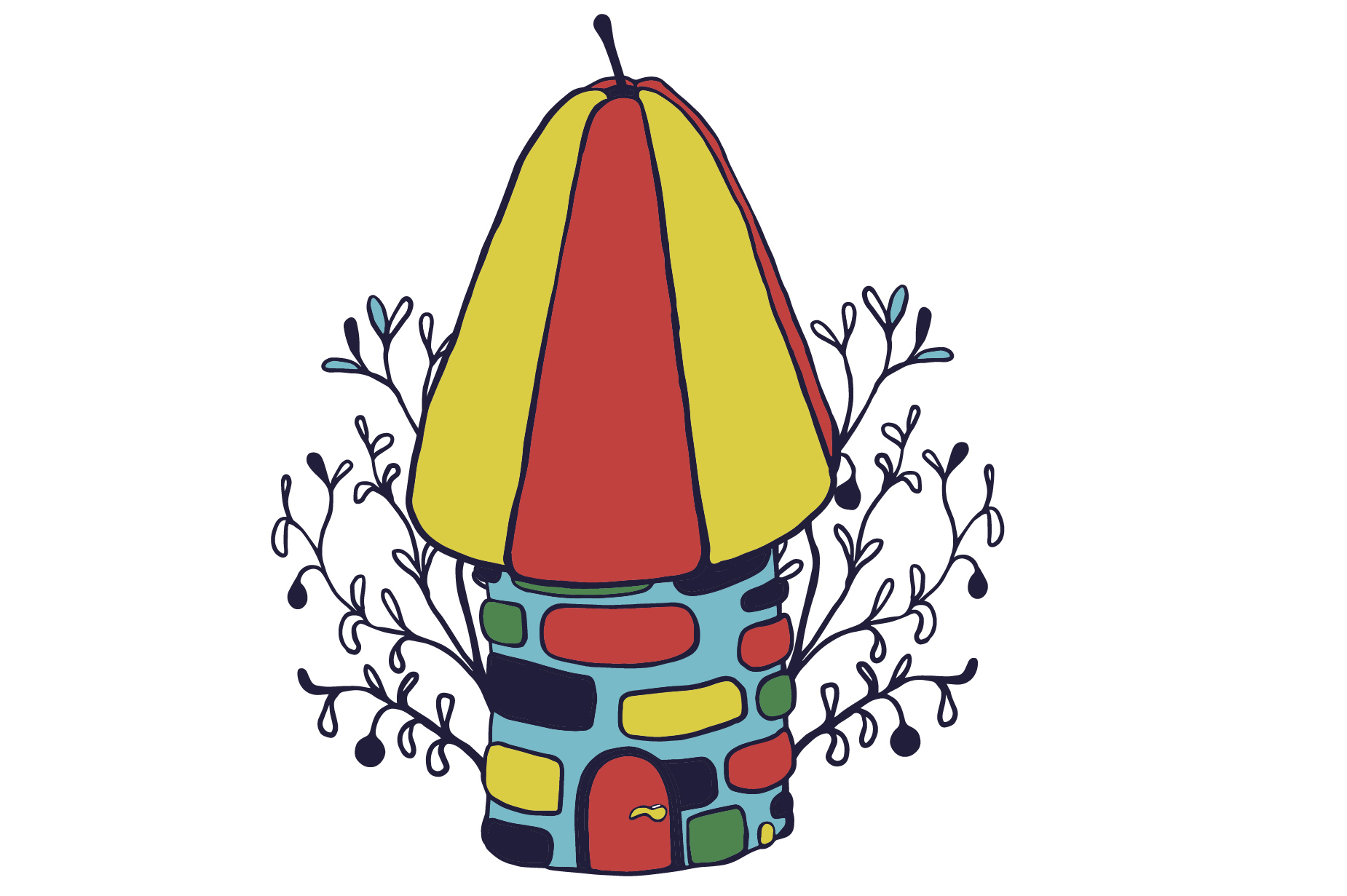 hight resolution of a fairytale tower clipart eps vector graphic by milaski creative fabrica