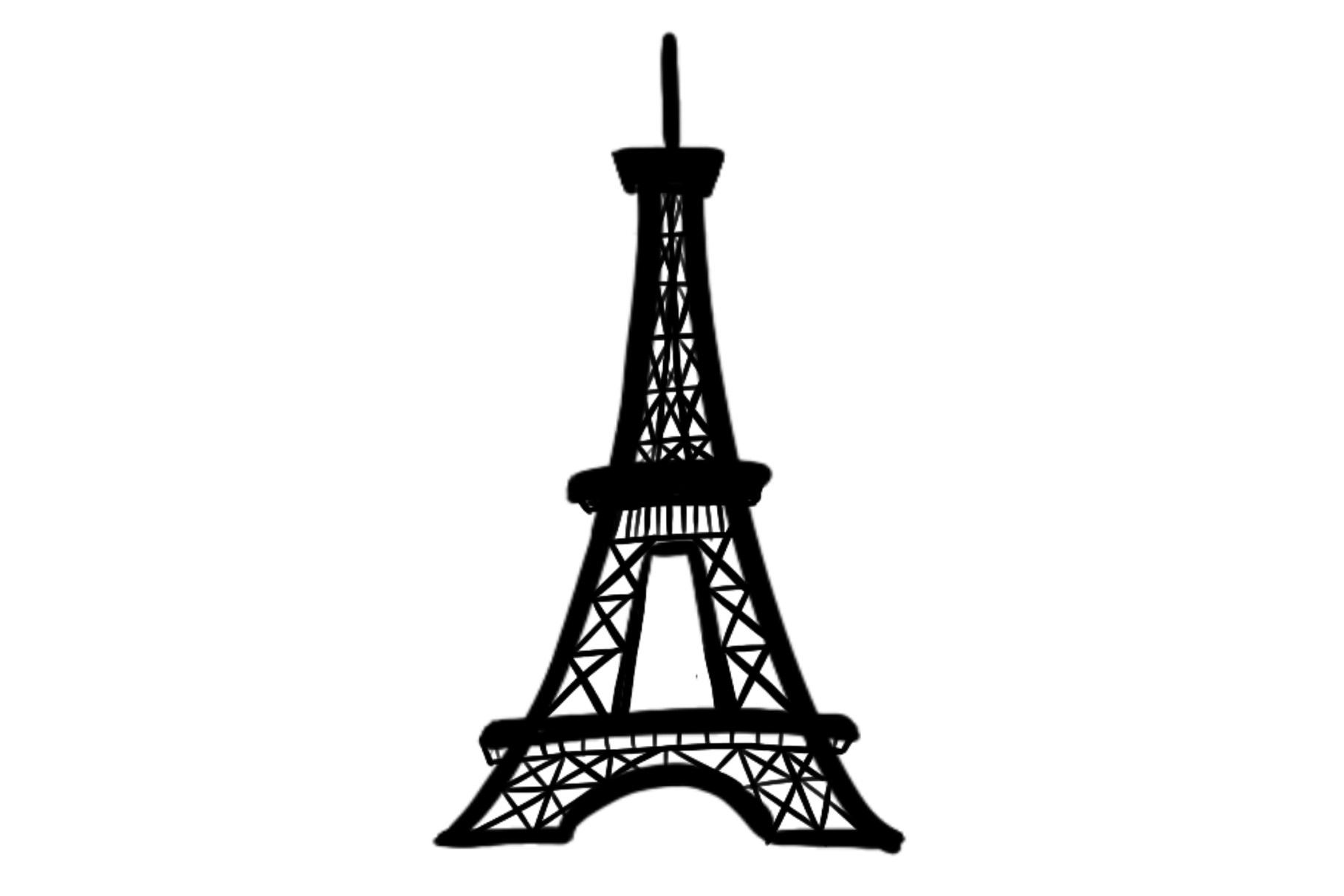 Eiffel Tower Silhouette Graphic By Sharon Dmstd