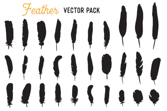 feather vector clipart pack