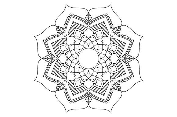 Mandala Ornament Coloring Page Graphic by GraphicsFarm