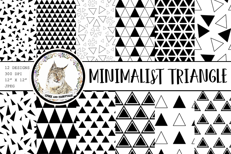 Minimalist Black White Triangle Patterns Graphic By Lynx