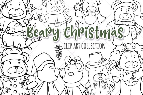 christmas bears digital stamps