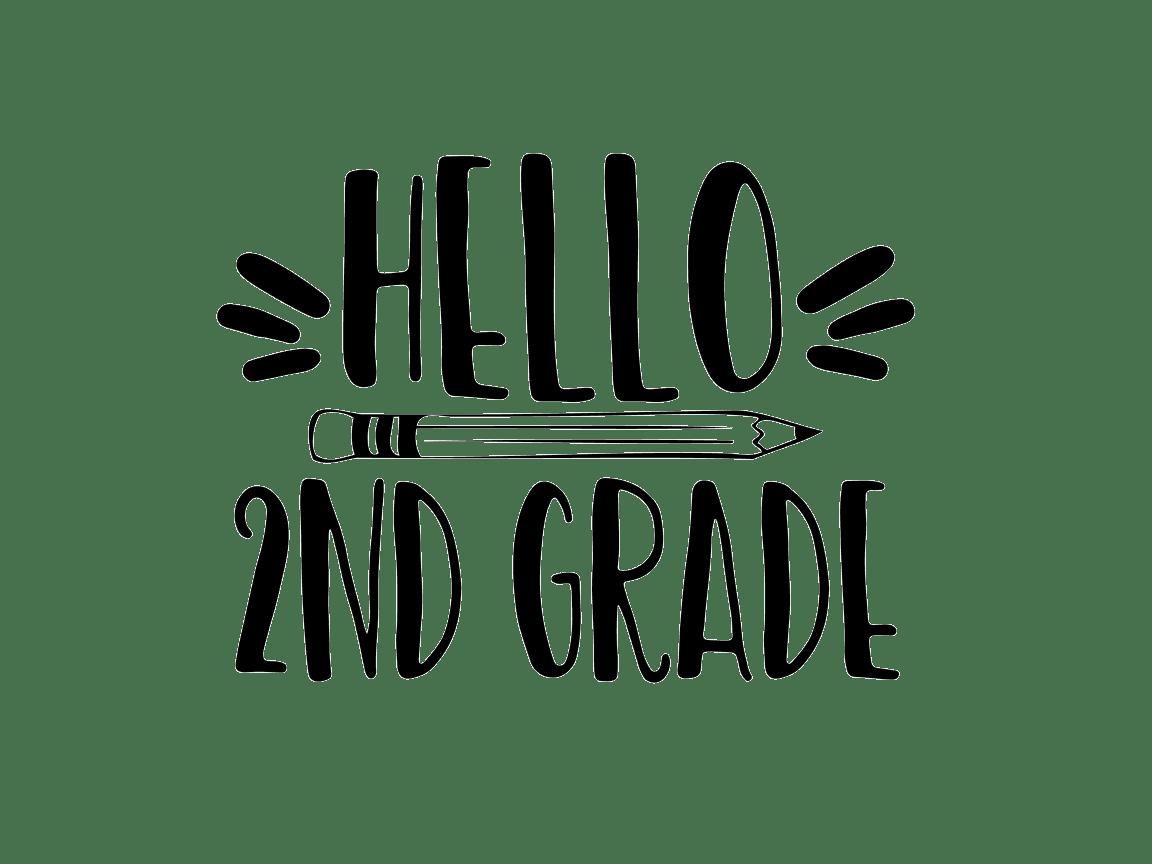 Hello Second Grade (Graphic) by TheSmallHouseShop
