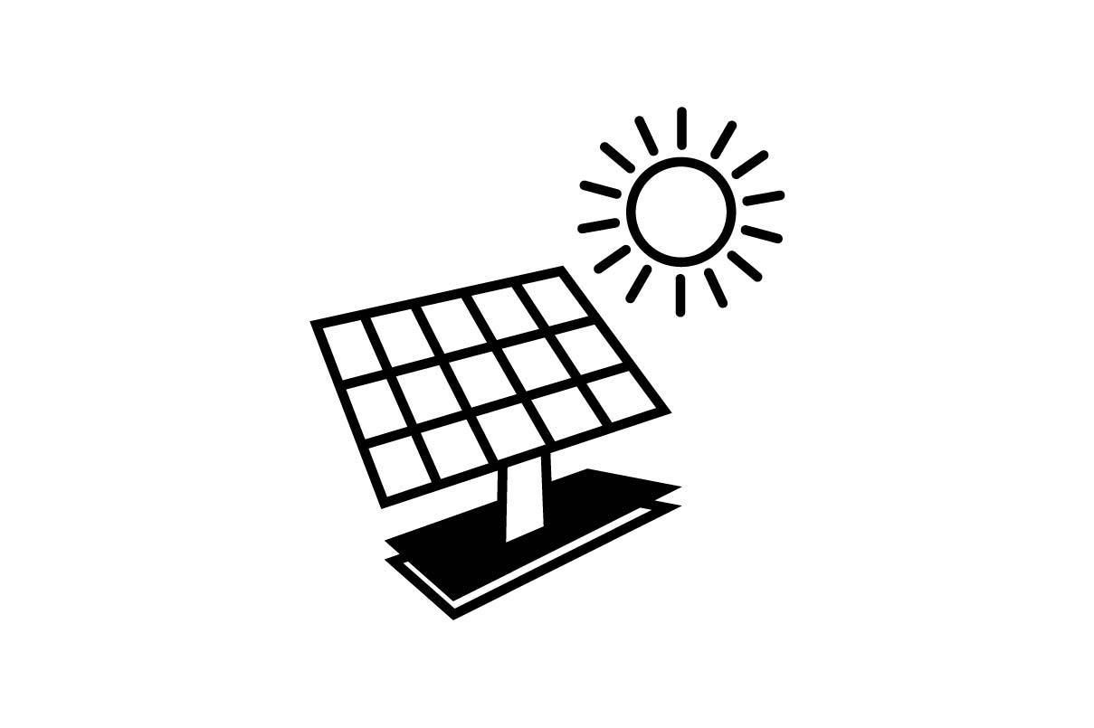 Solar Panel Black Icon Vector Eps 10 Graphic By Hoeda80