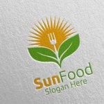 Sun Food Restaurant Logo 16 Graphic By Denayunecf Creative Fabrica