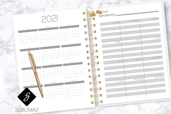 Printable 2020 Planner, Spanish 2020 (Graphic) by Sublima2
