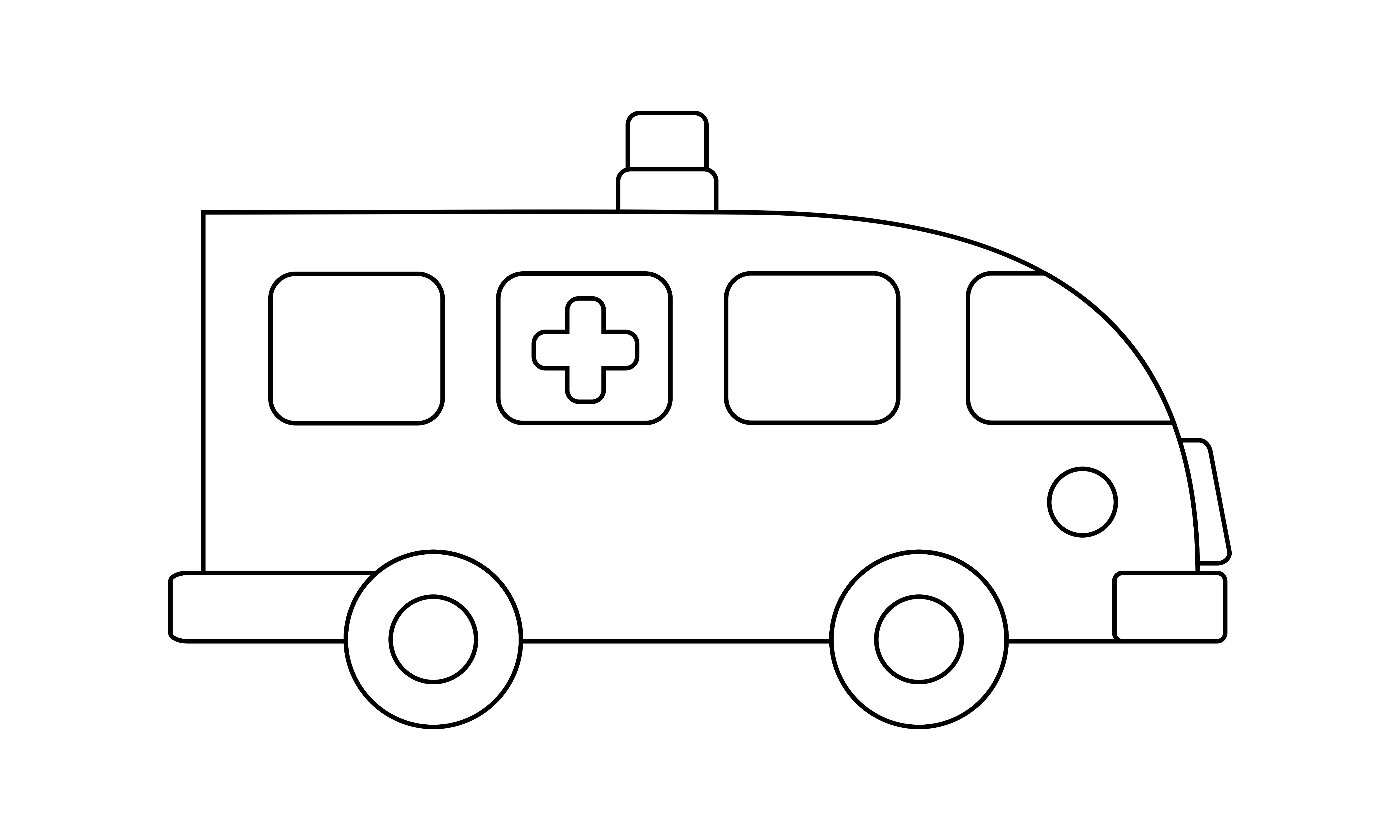 Ambulance Coloring Book Transportation Graphic By Deemka Studio Creative Fabrica