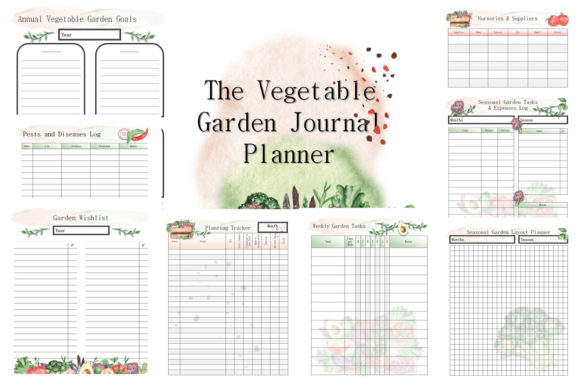 The Vegetable Garden Journal Planner Graphic By Ahdesign Creative Fabrica